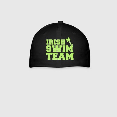 Swim irish swim team with shamrock sperm  - Baseball Cap