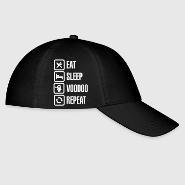 Eat sleep voodoo repeat black magic voodoo doll - Baseball Cap
