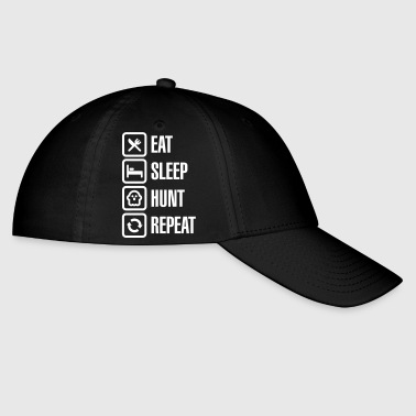 Eat sleep ghost hunt / hunting repeat ghosthunter - Baseball Cap