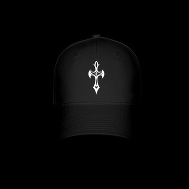 Cross, Crucifix, with gemstone and thorns. - Baseball Cap
