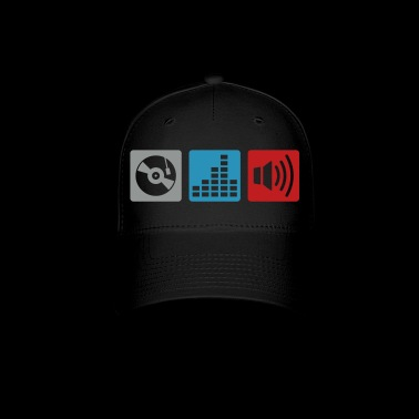 Music - DJ - Turntable Design - Baseball Cap