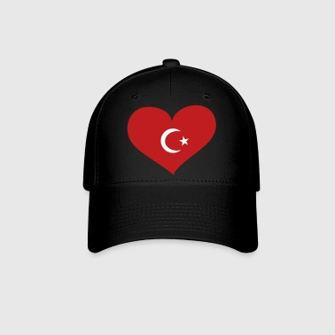 Turkey Heart; Love Turkey - Baseball Cap