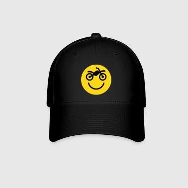 Happy off the road motocross smiley - motorcycle 2 - Baseball Cap