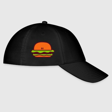 hamburger short bun eyes facing foreward - Baseball Cap