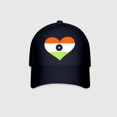 India Heart; Love India - Baseball Cap