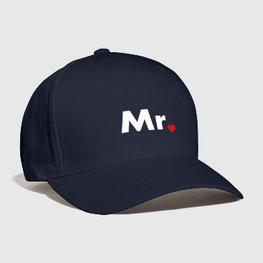 Mr with heart dot - part of Mr and Mrs set - Baseball Cap