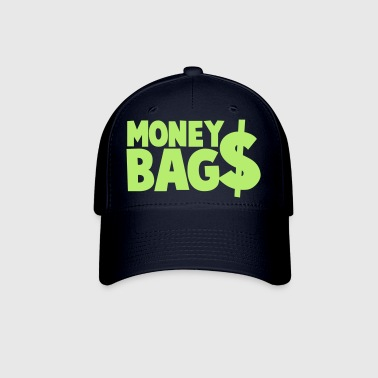 money bags $$$ dollars coin - Baseball Cap
