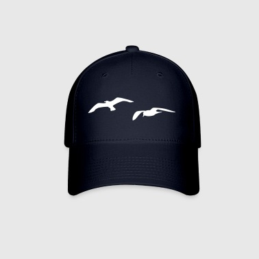 sea gull seagull harbour bird beach sailing ocean - Baseball Cap