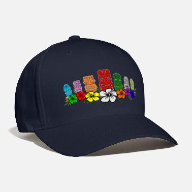 Tiki 7 Colorful Hawaiian - Polynesian Tiki Idols - Baseball Cap