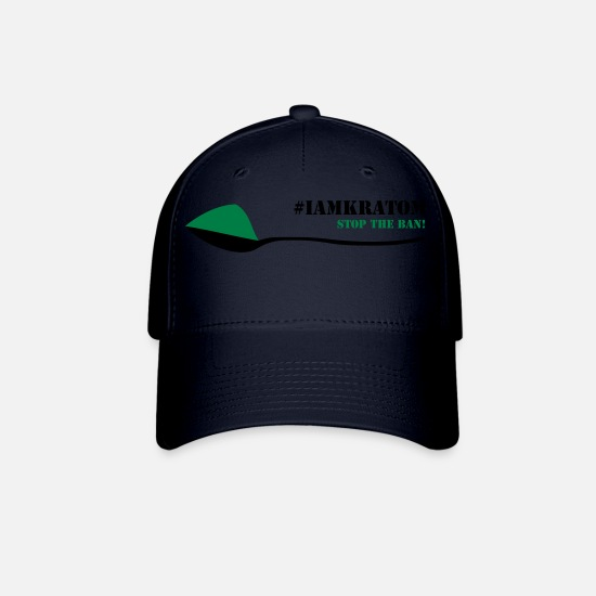 Kratom Caps - Kratom - STOP THE BAN 3 - Baseball Cap navy