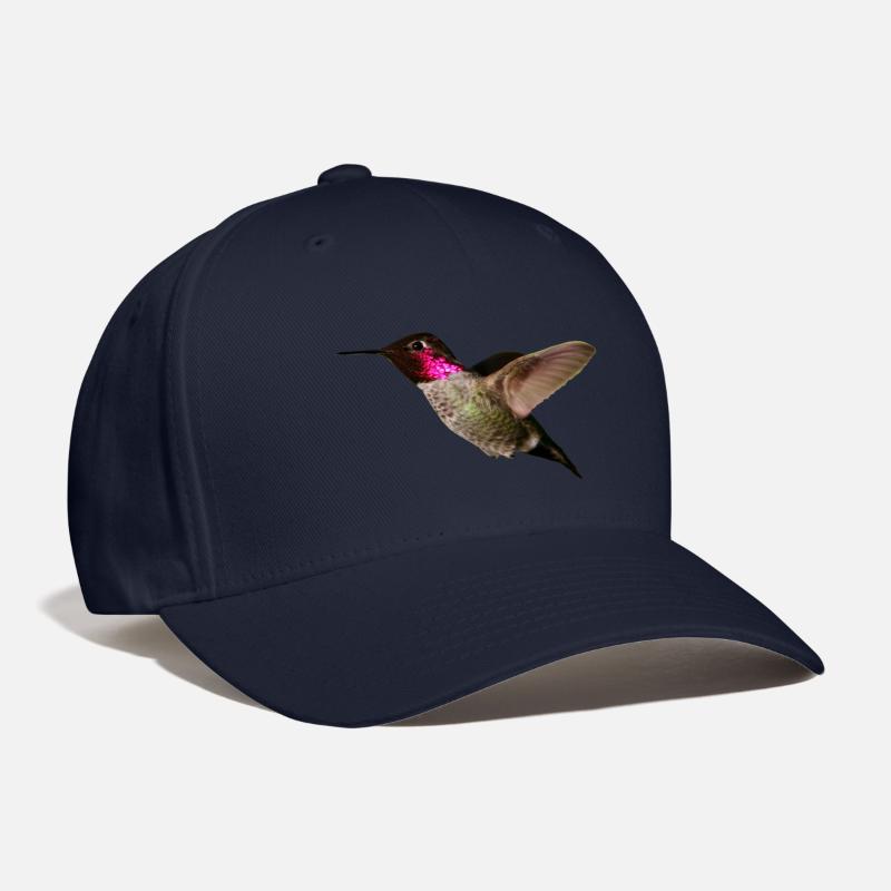 Wing Caps - HUMMINGBIRD IN FLIGHT - Baseball Cap navy bb8501ef5f2a