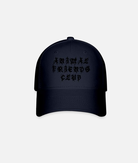 Animal World Caps & Hats - Animal Friends Club - Sayings Statement Gift Ideas - Baseball Cap navy