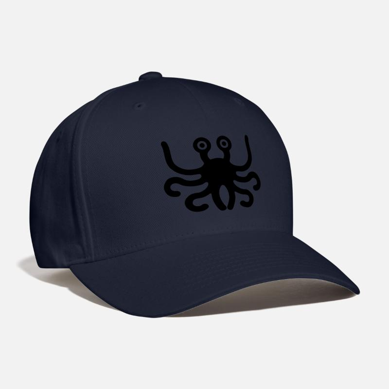 Church Caps - flying spaghetti monster - Baseball Cap navy b93233d766b