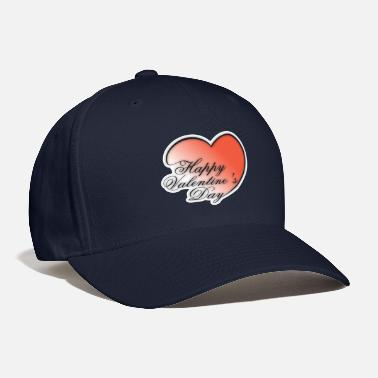 Side Text Valentines Day Love Heart With Text On Side - Baseball Cap