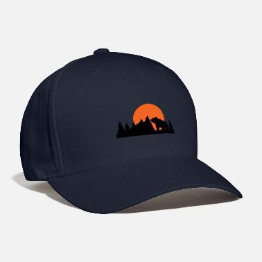 Wilderness Mountains, wilderness and bears - Baseball Cap