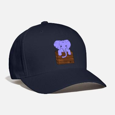 Tusk Elephant with tusks - Baseball Cap