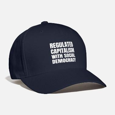 Socialist Text: Regulated capitalism... (white) - Baseball Cap