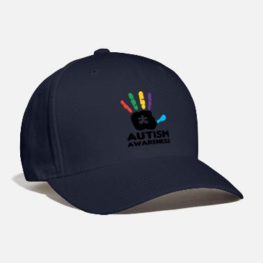 Awareness Autism Awareness Hand Print Autistic - Baseball Cap