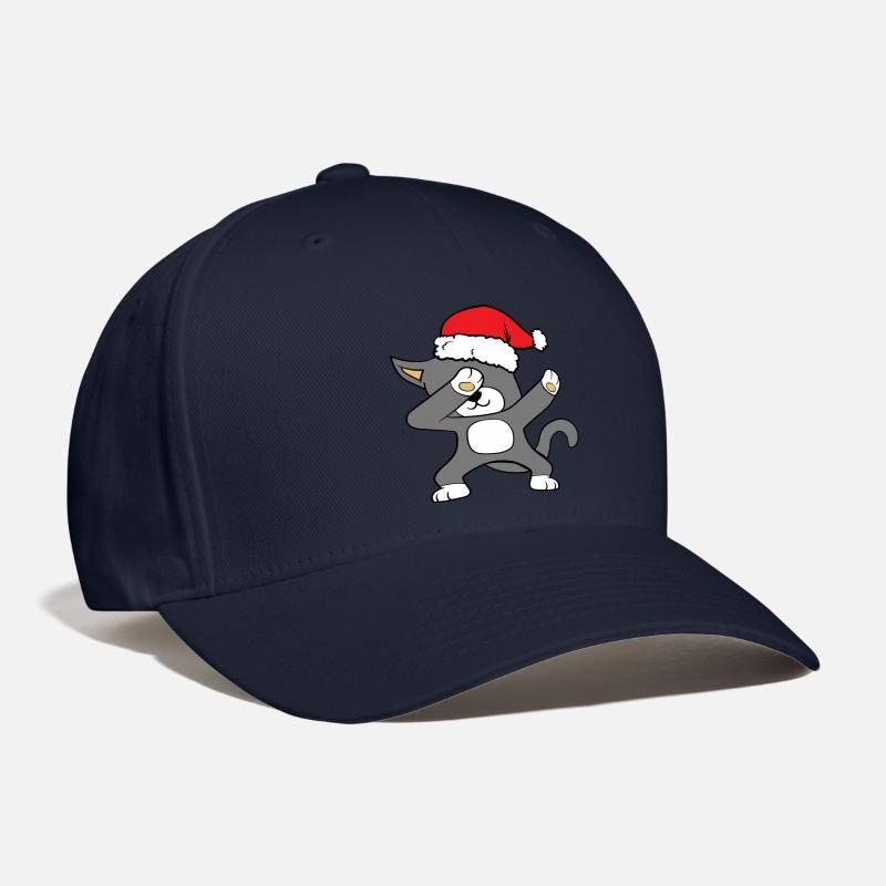 170b20d0d195b Christmas Xmas Dabbing Dab Cat Baseball Cap