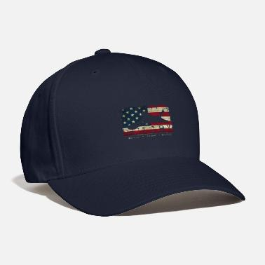 Usa Flag Colors Rugby Blood Sweat Bruises Player G - Baseball Cap