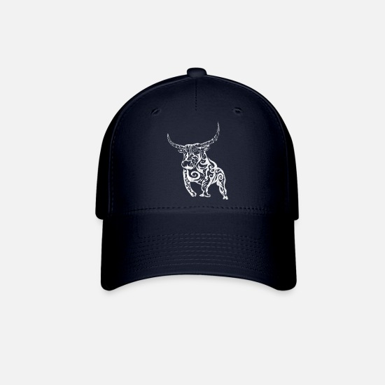 Stock Caps - Bull Stock Market Investment Trading Wallstreet - Baseball Cap navy