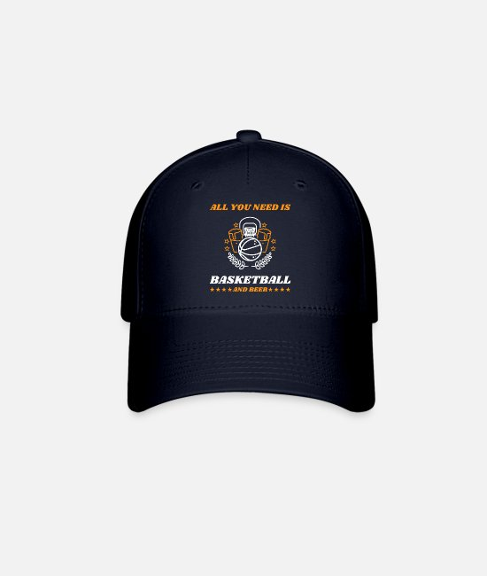 Girlfriend Birthday Caps & Hats - Basketball Beer Team Training Joke - Baseball Cap navy