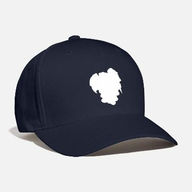 grapes fruit white color pastel | elegant minimali - Baseball Cap