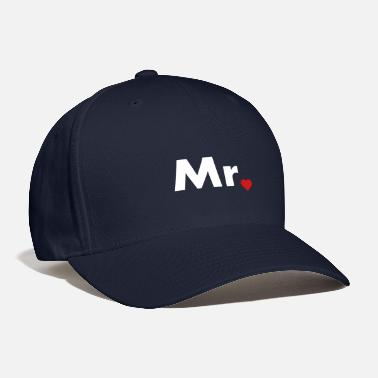 Couples Mr with heart dot - part of Mr and Mrs set - Baseball Cap