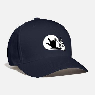 Puppetry Funny rabbit shadow hand ROCK music HARD ROCK fan - Baseball Cap