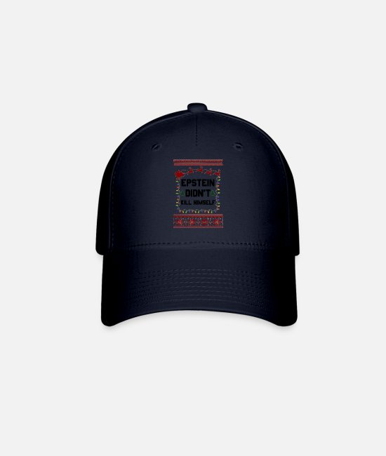 Stag Caps & Hats - Epstein Didn t Kill Himself Christmas - Baseball Cap navy