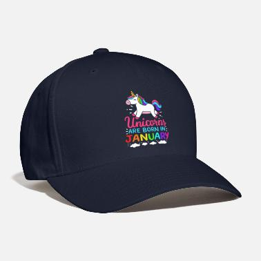 Happy Birthday Unicorns Are Born In January Birth Month Birthday - Baseball Cap