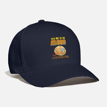 Pixel Land Fly Me To The Moon - Baseball Cap