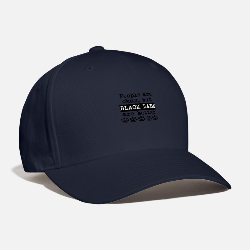 9fd6800f9 Black Labs Are Better Baseball Cap - navy