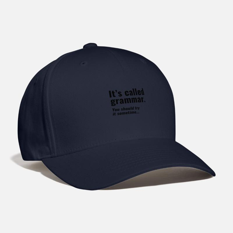 Funny Caps - It's Called Grammar - Baseball Cap navy