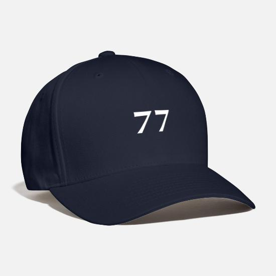 Birthday Caps - 77 year of birth white - Baseball Cap navy