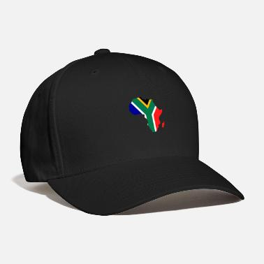 South Africa african flag map of south africa - Baseball Cap