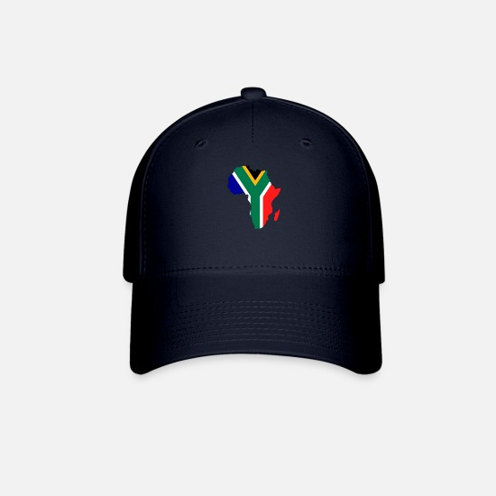 Africa Caps - african flag map of south africa - Baseball Cap navy
