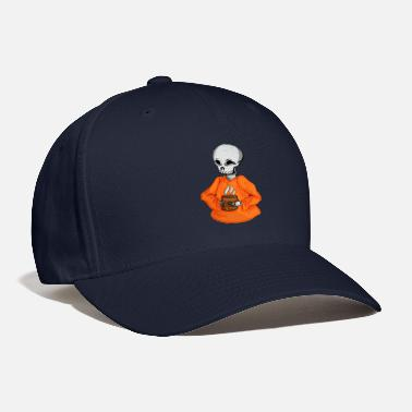 Hot Drink Skeleton with a Hot Drink Halloween - Baseball Cap
