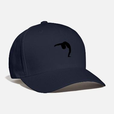 Backwards Woman Bending Over Backwards Silhouette - Baseball Cap