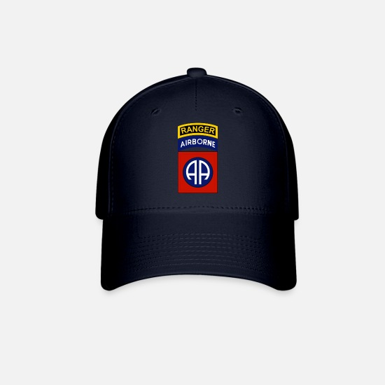 Airborne Caps - 82nd Airborne with Ranger tab - Baseball Cap navy