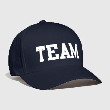 team in college font - Baseball Cap