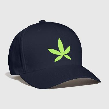 weed pot hash leaf grass simple shape - Baseball Cap