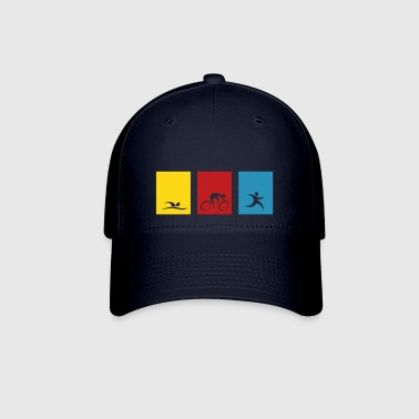 spread_usa_triathlonicons_4_cs - Baseball Cap