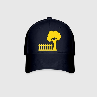 picket fence and a tree garden backyard fun! - Baseball Cap