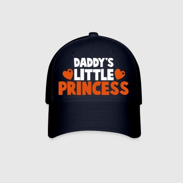 daddy's little princess with love hearts - Baseball Cap