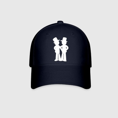 two grooms gay wedding - Baseball Cap