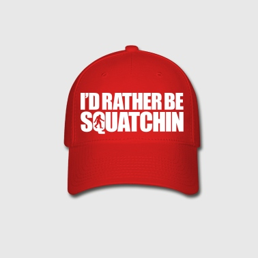 I'd Rather Be Squatchin' (Black) - Baseball Cap