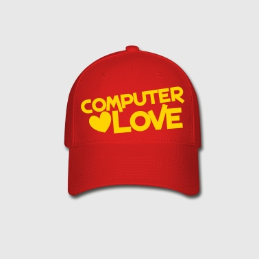 computer love with heart - Baseball Cap