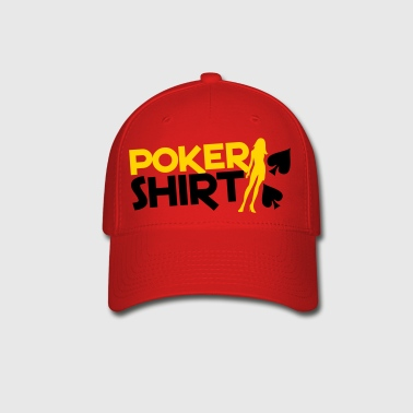 Poker shirt with a sexy lady  - Baseball Cap