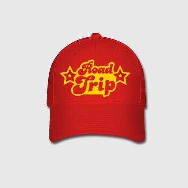 funky cool road trip design with stars - Baseball Cap